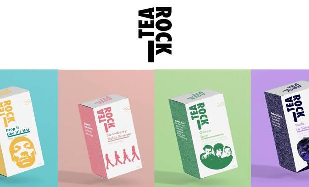 Project visual Tea Rock : les thés aux goûts de tes musiciens préférés