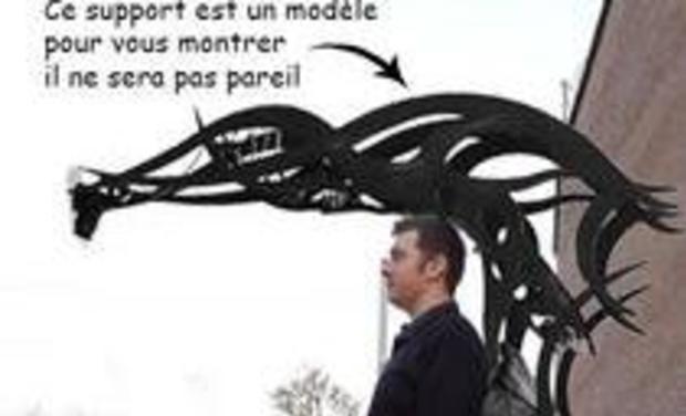 Visuel du projet le rêve d'Anthony sur une échasse avec une structure en photo