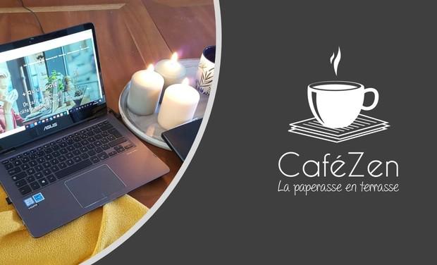 """Visuel du projet CaféZen, le """"Café administratif"""" qui gère la paperasse dans une ambiance cosy"""