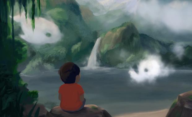 Visuel du projet Les Nuages de Tao - un album jeunesse éco-responsable