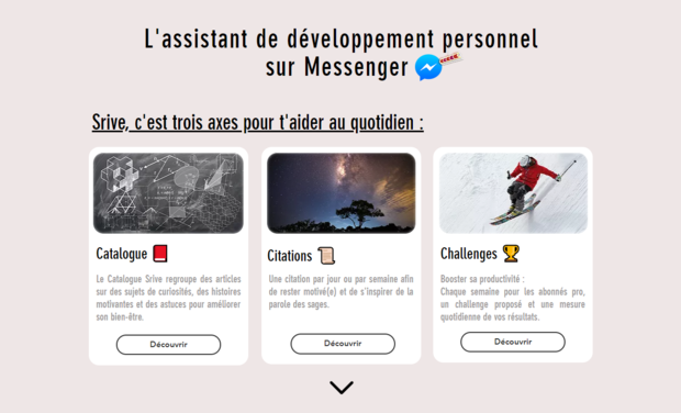 Project visual Srive - Assistant de développement personnel