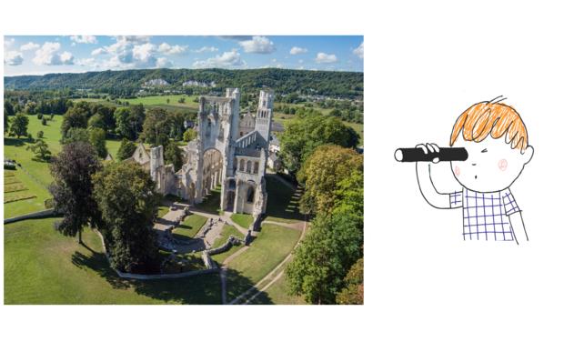 Visuel du projet Une sacoche découverte pour visiter les abbayes de Normandie en famille