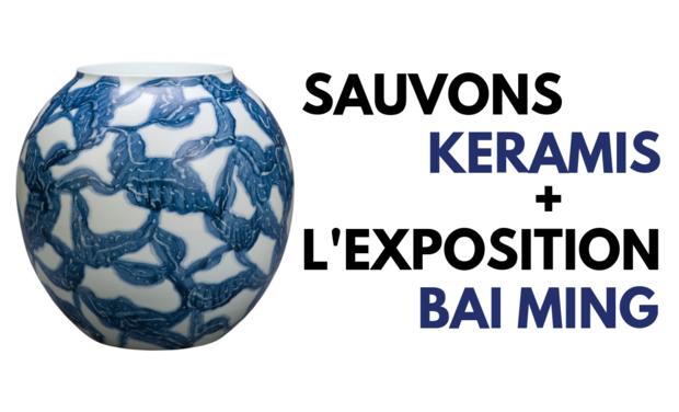 Visuel du projet Sauvons Keramis et l'exposition Bai Ming