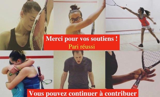 """Visuel du projet Dans """"l'objectif"""" du squash français"""