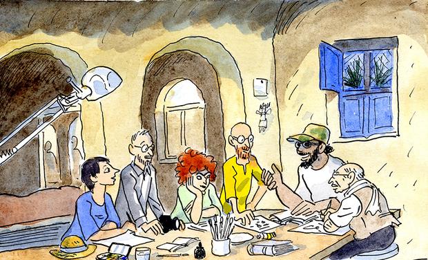 Visuel du projet ATELIER BD CHEZ LES PHARAONS ! résidence d'artistes en Egypte