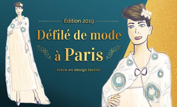 Visueel van project Fashion show in Paris (textile designer student)