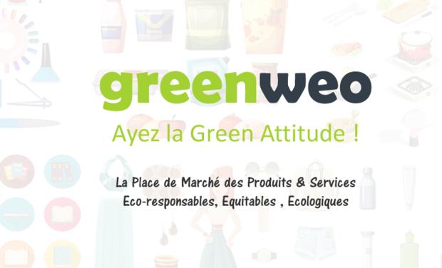 Project visual Greenweo, la marketplace des produits éco-responsables, équitables, écologiques