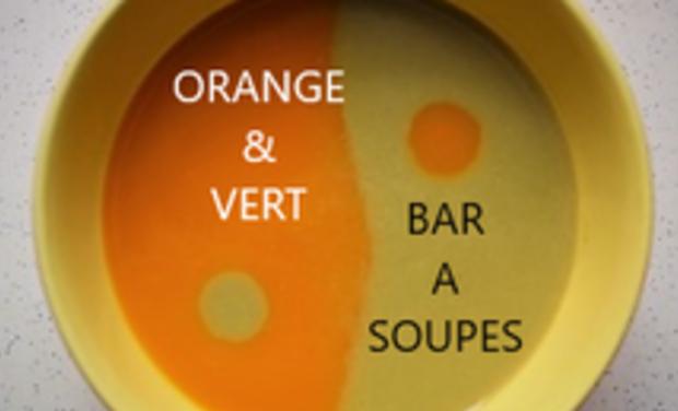 """Project visual SUPPENBAR """"Orange & Vert"""" Deutsch-Französischeküche und Gebäck."""