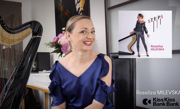Visuel du projet Rossitza MILEVSKA - promo nouvel album - harpe jazz
