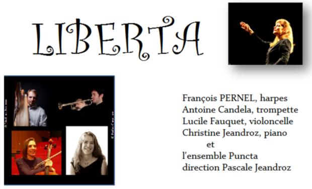 Visuel du projet Liberta, concerto pour harpe