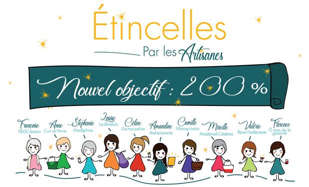 Visuel du projet La boutique Étincelles par les Artisanes - objectif 200 %