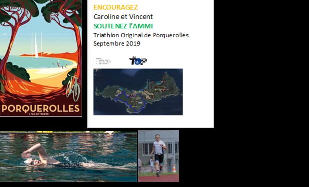 Visueel van project Une course au TOP pour l'AMMI : triathlon solidaire !