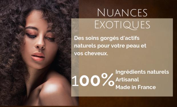 Visuel du projet Nuances Exotiques - La cosmétique naturelle et respectueuse de l'environnement