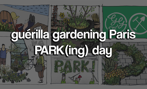 Project visual Guérilla Gardening Paris : PARK(ing) day