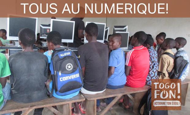 Visueel van project Tous au numérique pour les enfants togolais