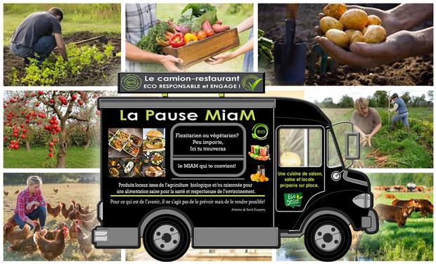 Visueel van project La Pause MiaM, le camion-restaurant Eco responsable et engagé