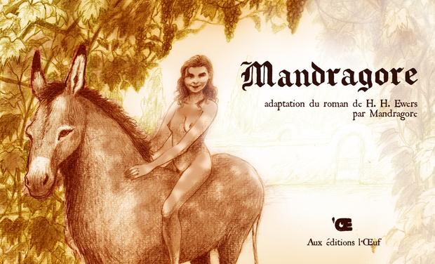 Visuel du projet Mandragore, adaptation BD du roman fantastique d'H.H. Ewers