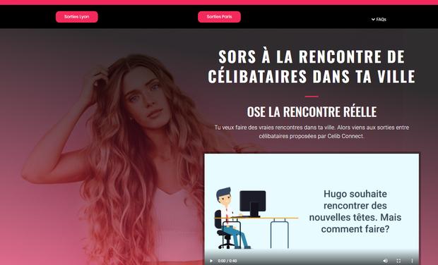 Visueel van project Celib Connect : plateforme de sorties pour célibataires