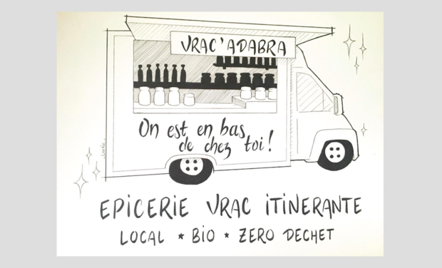Project visual Vrac'Adabra : Epicerie Vrac Itinérante