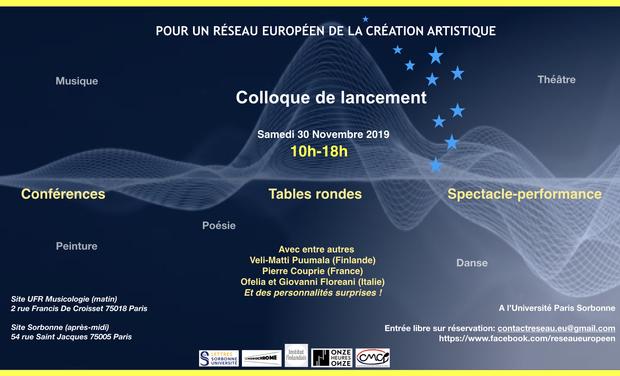 Visuel du projet POUR UN RÉSEAU EUROPÉEN DE LA CREATION ARTISTIQUE
