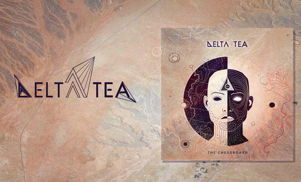 "Visuel du projet Premier EP ""The Chessboard"" de Delta tea"