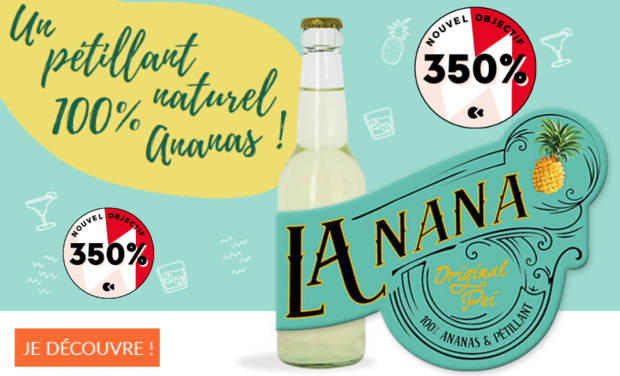 Visuel du projet LaNana - Pétillant d'ananas