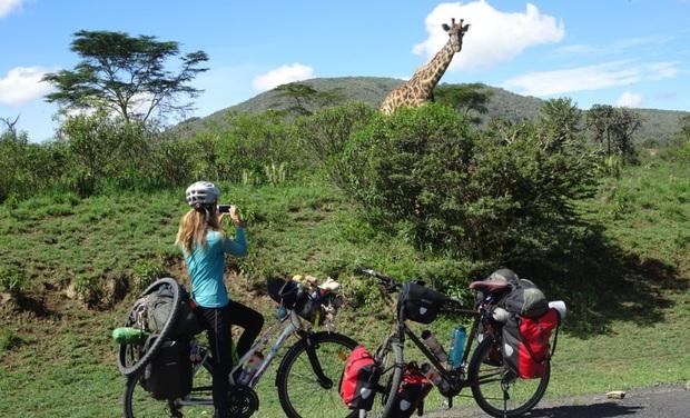 Visuel du projet Voyage de 20 000 km à vélo : publication du livre de Tiphaine