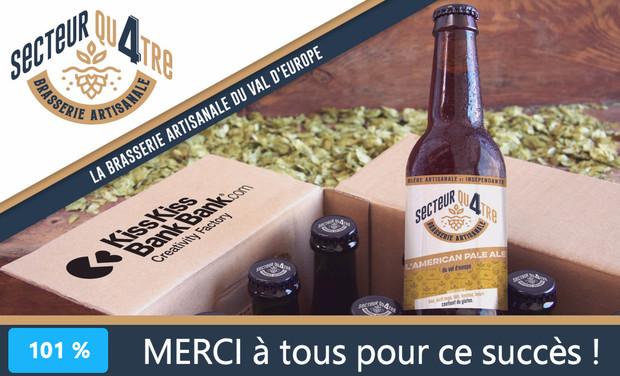 Visueel van project Brasserie SECTEUR QU4TRE : les bières du Val d'Europe