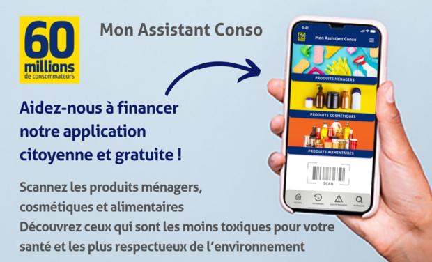 Project visual Mon Assistant Conso : l'application citoyenne de 60 Millions de consommateurs