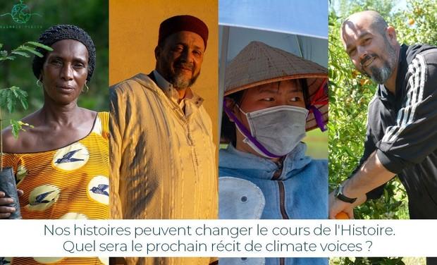 Visuel du projet Climate Voices : Contribuez à changer le cours de l'Histoire.