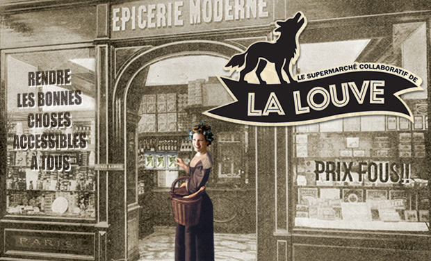 Project visual Le Supermarché Collaboratif de la Louve