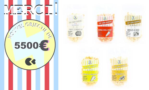 Visuel du projet Pop'Orico, du pop-corn gourmet français, sain et local !
