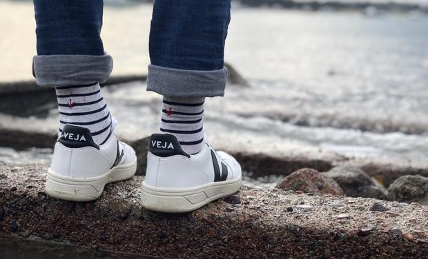 Visuel du projet Estampille - Une marque de chaussettes qui diminue notre empreinte écologique