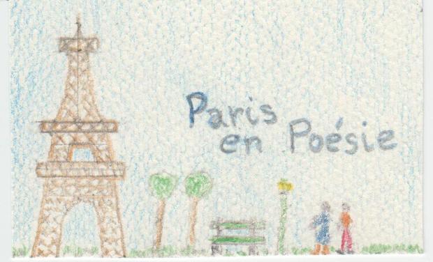 """Visuel du projet Livre """"Paris en Poésie"""" et Promotion"""