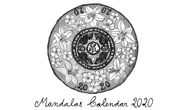 Project visual Ink Mandalas Calendar 2020