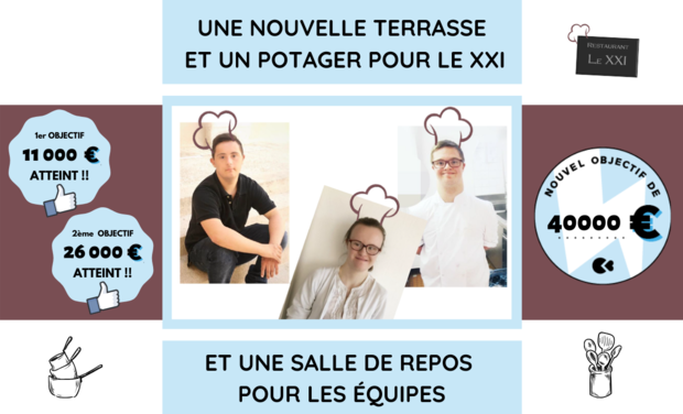 Project visual Le XXI : Restaurant inclusif et solidaire à Rouen