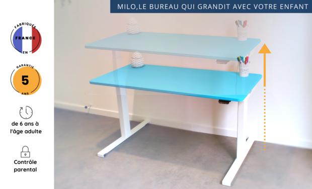 Visuel du projet MILO, le premier bureau évolutif qui grandit avec votre enfant