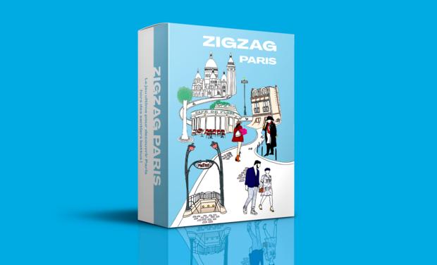 Project visual Zigzag Paris, le jeu pour découvrir Paris hors des sentiers battus