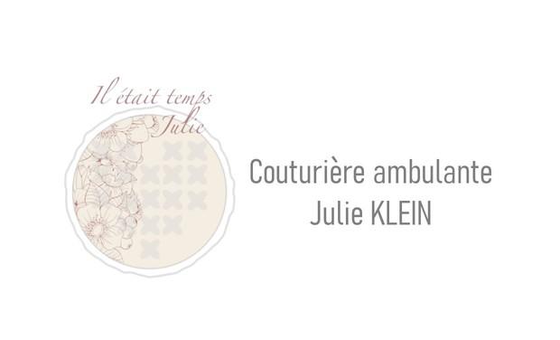 Visuel du projet Il était temps Julie, couturière ambulante
