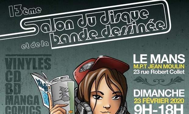 Project visual 13ème édition du salon du disque et de la BD du Mans