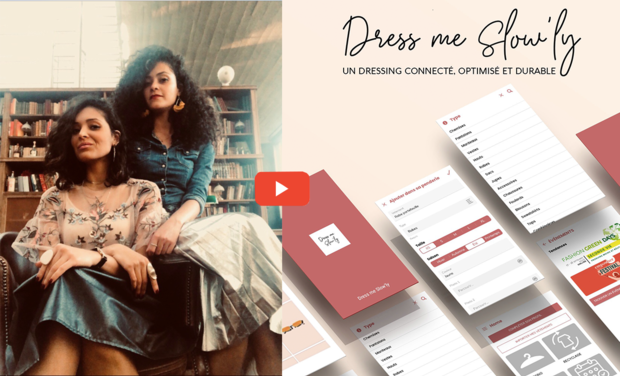Project visual Dress me Slow'ly, un dressing connecté et durable pour une mode éthique !