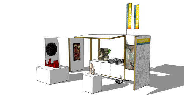 Project visual Musée itinérant - Locomotifs