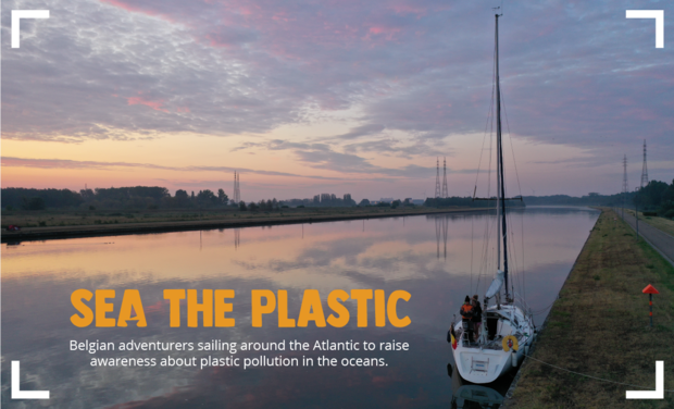 Visuel du projet SEA THE PLASTIC, tour de l'Atlantique à la voile contre la pollution plastique
