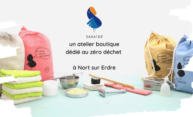 Visueel van project Sakaïdé, un atelier boutique dédié au Zéro déchet