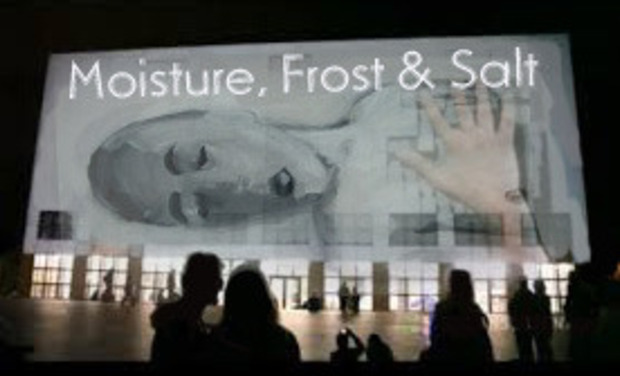 Visuel du projet Moisture, Frost and Salt, video mapping projection