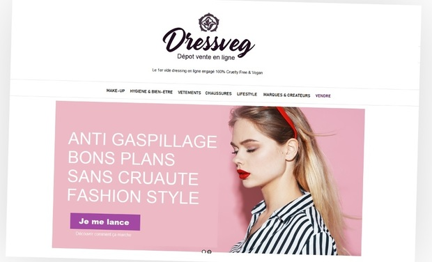 Project visual DressVeg - Concept store online 100% VEGAN