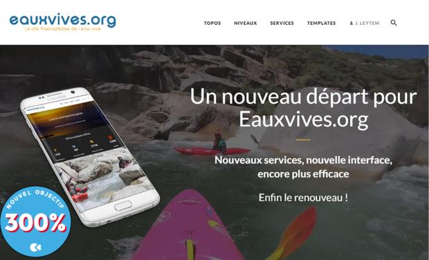 Visuel du projet Un nouveau départ pour Eauxvives.org