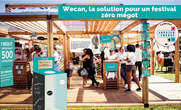 Visueel van project Wecan, la solution pour un festival zéro mégot