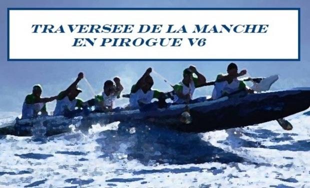 Visueel van project Record du Monde de la  traversée de la manche en pirogue 6 places...handicapés et valides réunis!