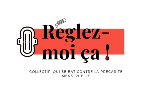 Visueel van project Collectif Réglez-moi ça qui se bat contre la précarité menstruelle